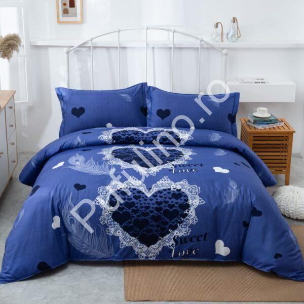 lenjerie inima albastra