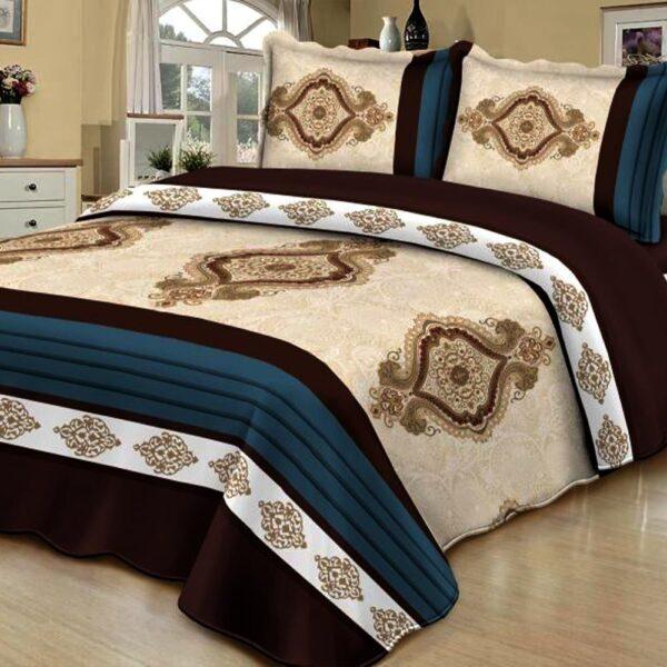 Cuvertura de pat multicolorata cu model