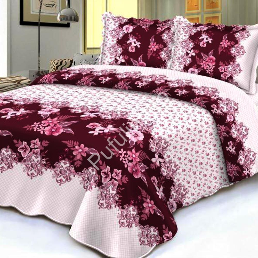Cuvertura de pat roz cu flori