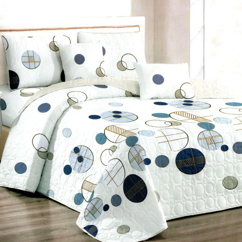 Cuvertura de pat alba cu buline