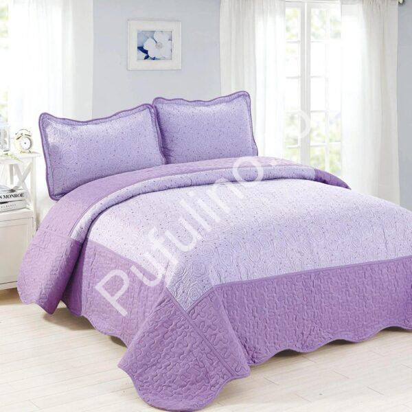 cuvertura de pat lila cu mov
