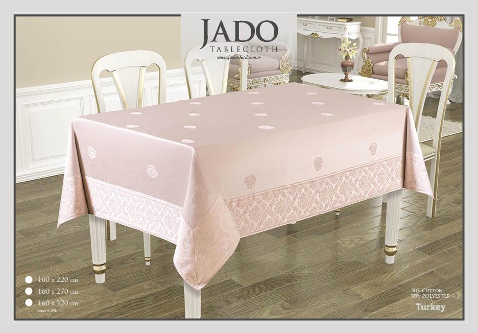 fata de masa jado policoton cu bordura - roz