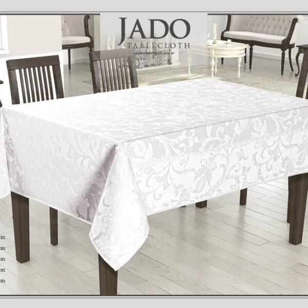 fata de masa jado polyester - alb