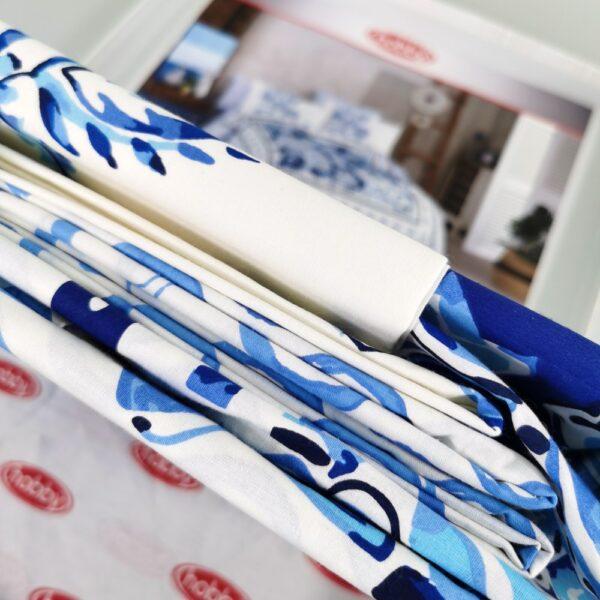 lenjerie bumbac 100% hobby escoda blue