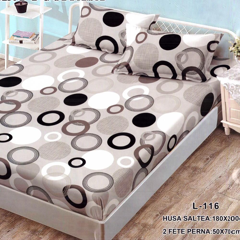 husa de pat finet cu cercuri