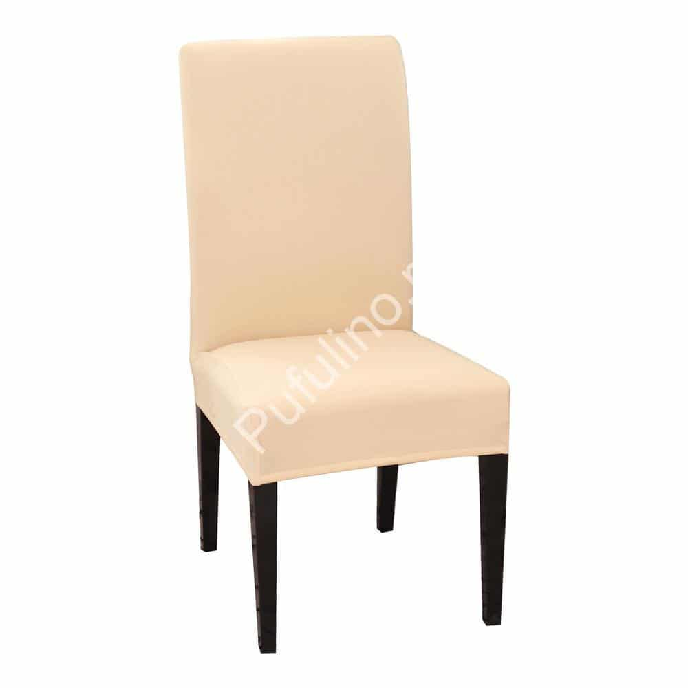 huse de scaun crem