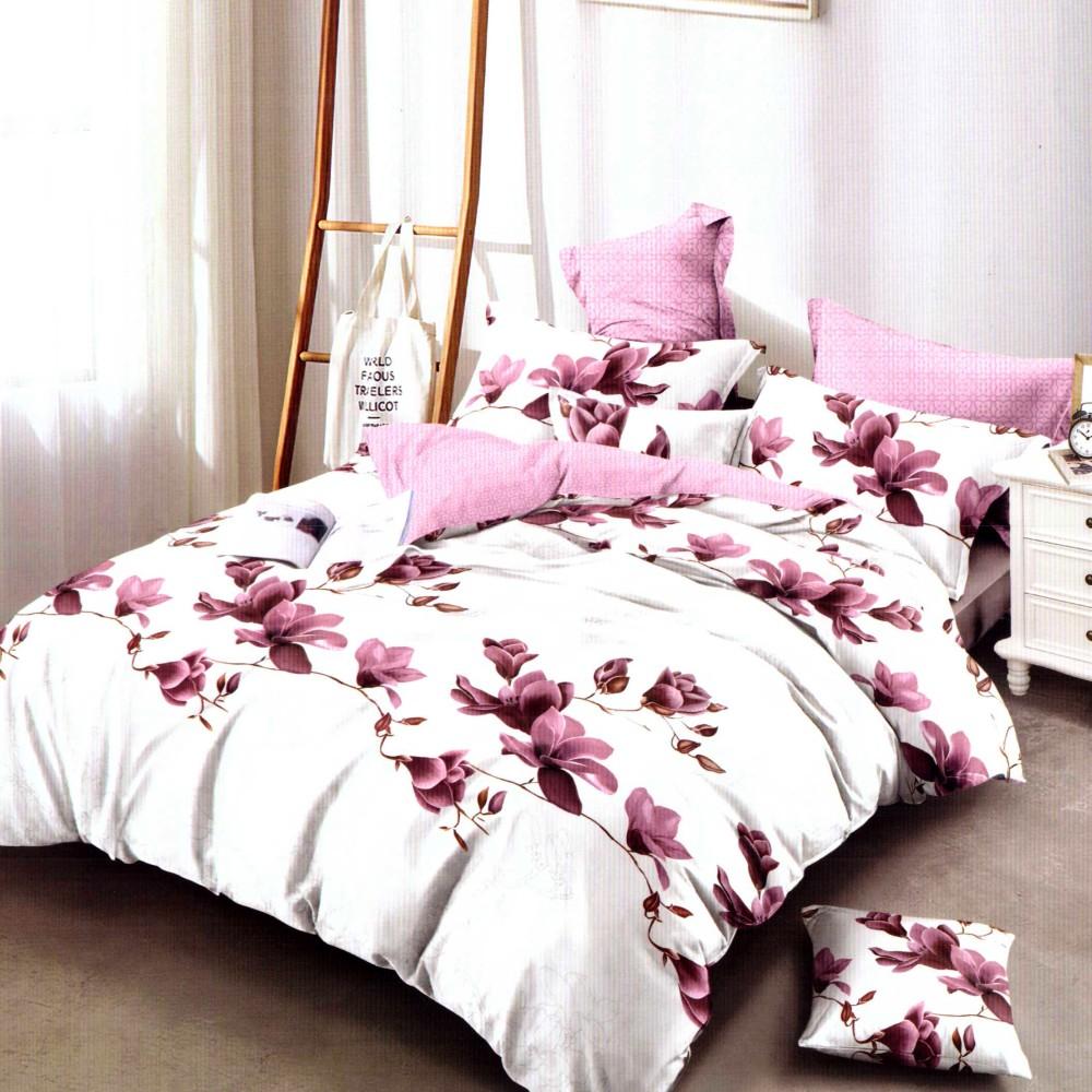 lenjerie de pat finet crem cu floricele (1)