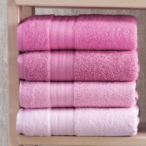 set 4 prosoape roz