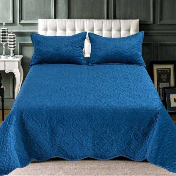 Cuvertura catifea albastru