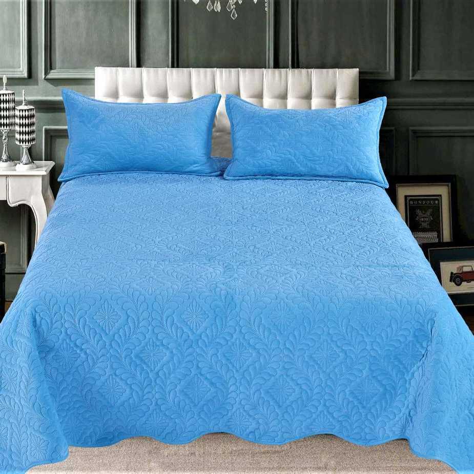 Cuvertura catifea bleu