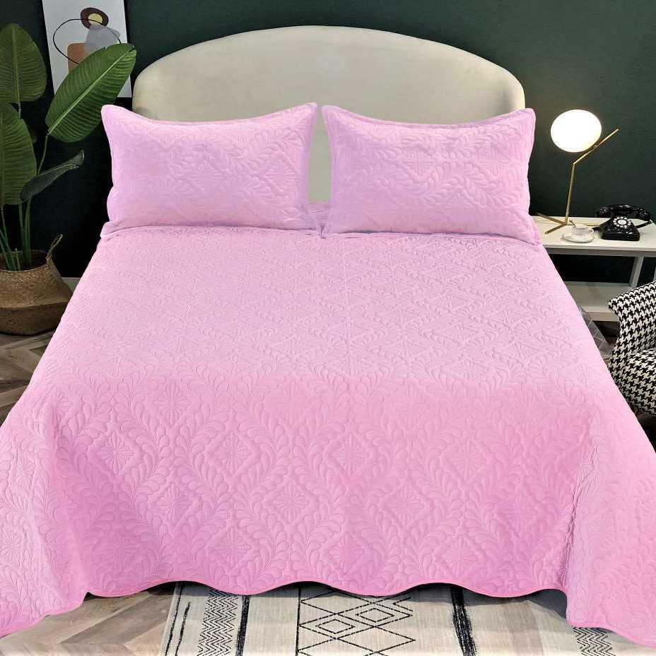 Cuvertura catifea roz
