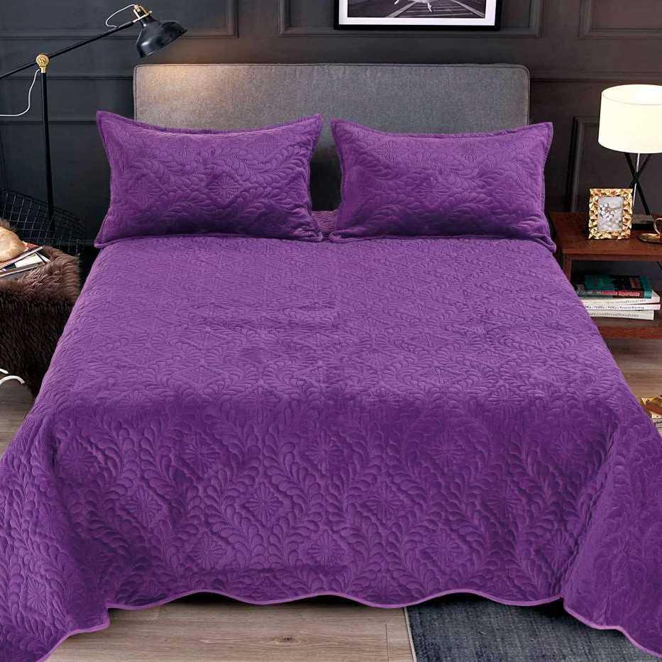 Cuvertura catifea violet