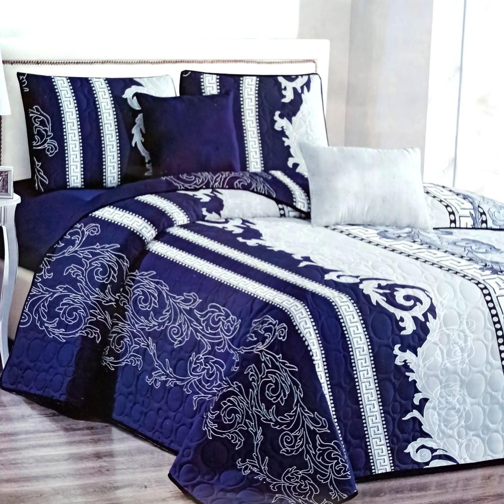 cuvertura de pat albastra