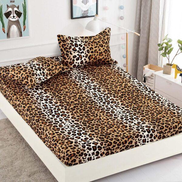 husa de pat cu elastic animal print