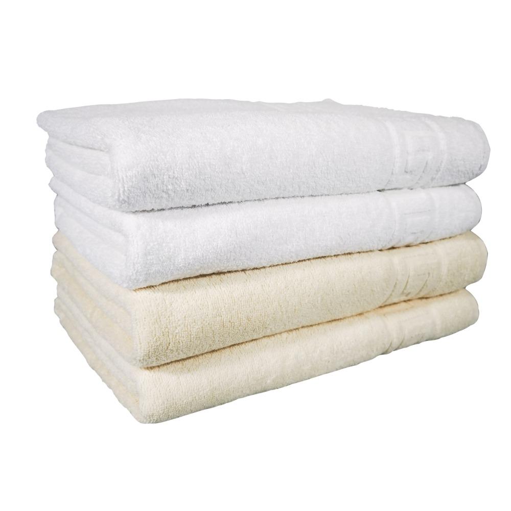 set 4 prosoape alb crem