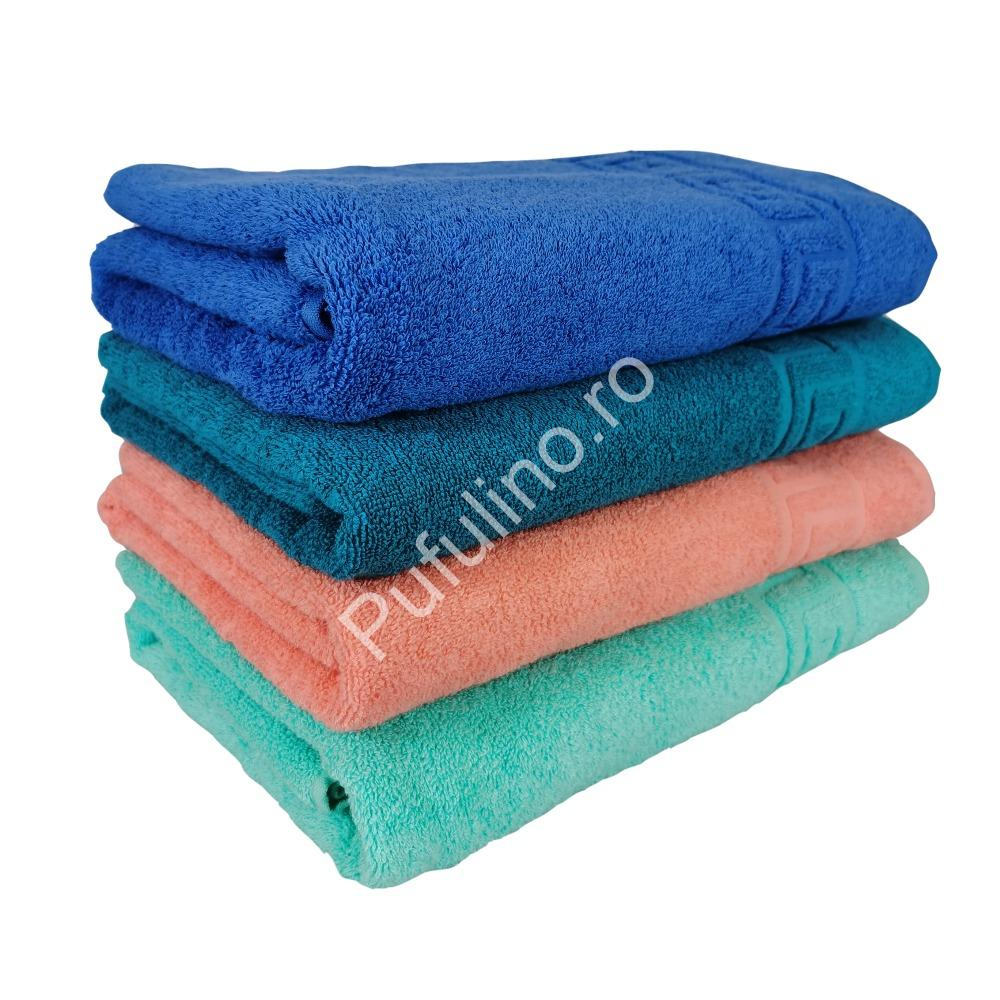 set 4 prosoape verde, portocaliu, turcoaz, albastru