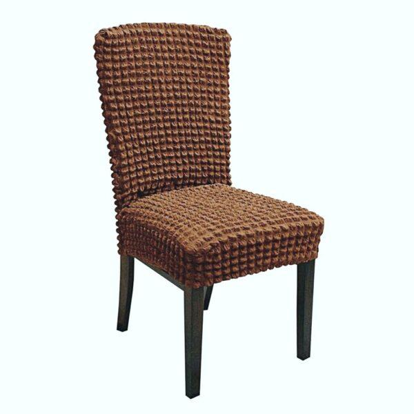 set 6 huse de scaun creponate - cappuccino
