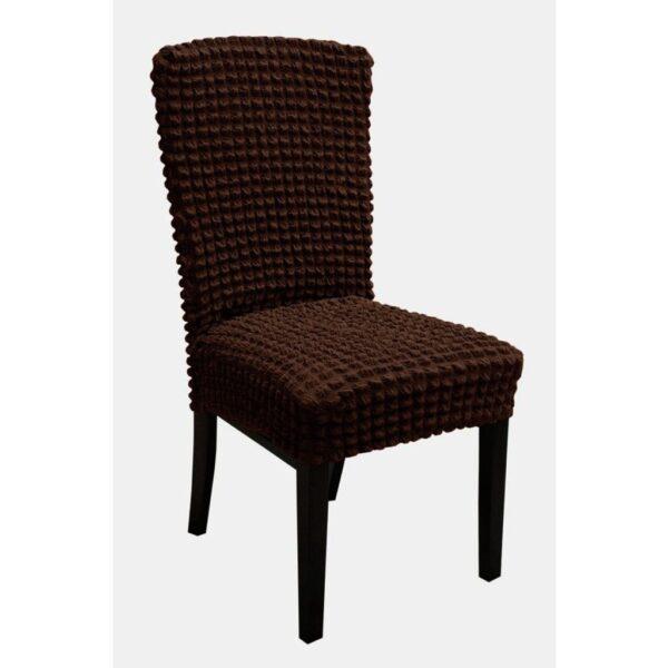 set 6 huse de scaun creponate - maro