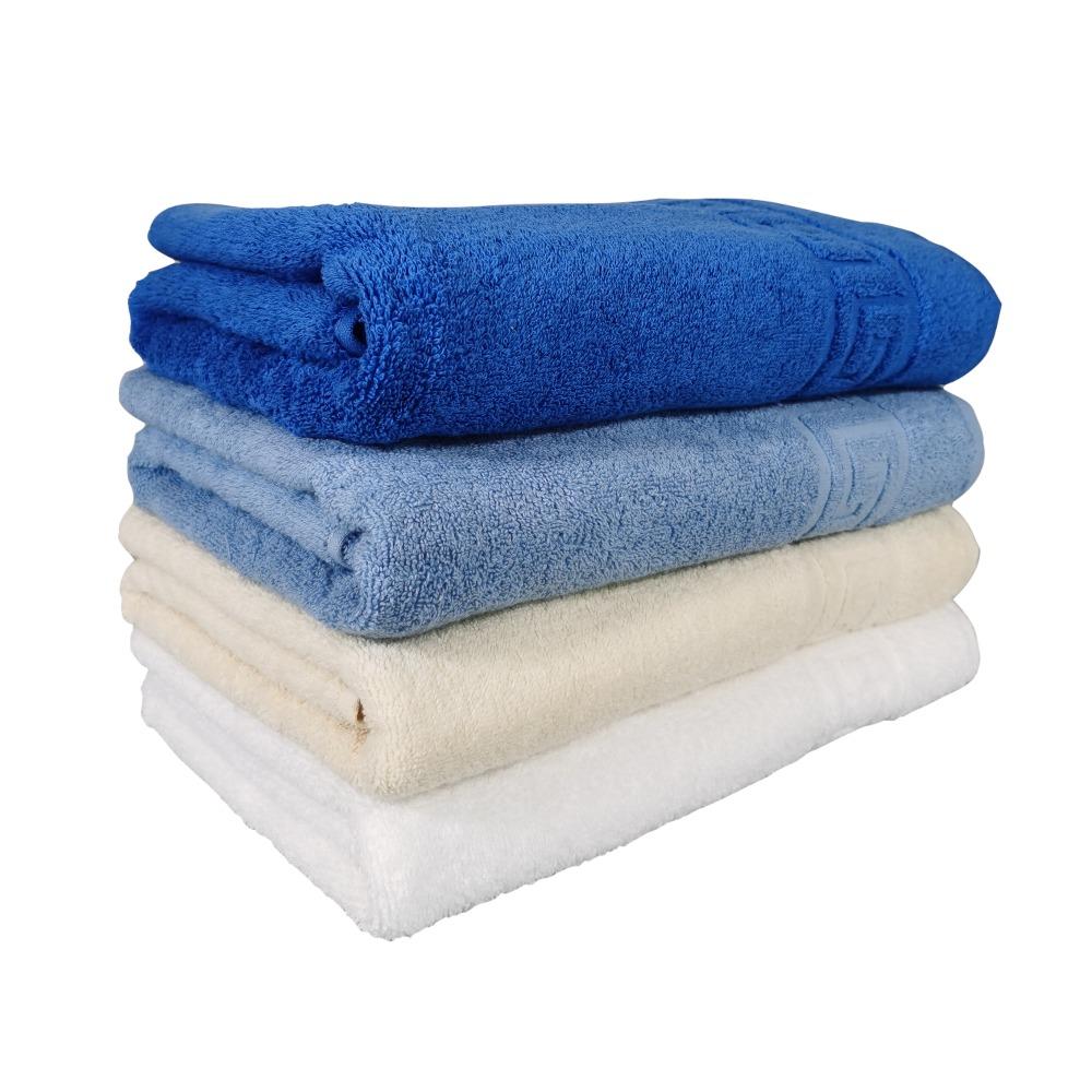 set prosoape alb, crem, bleu si albastru