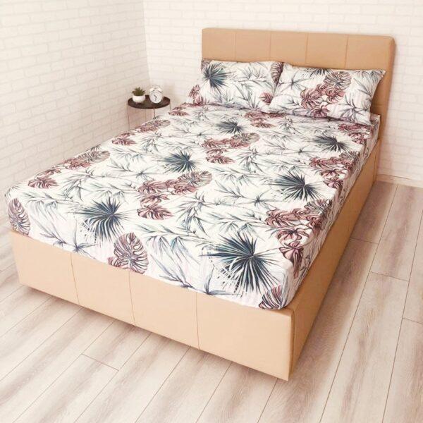 husa de pat cu elastic ranforce multicolor