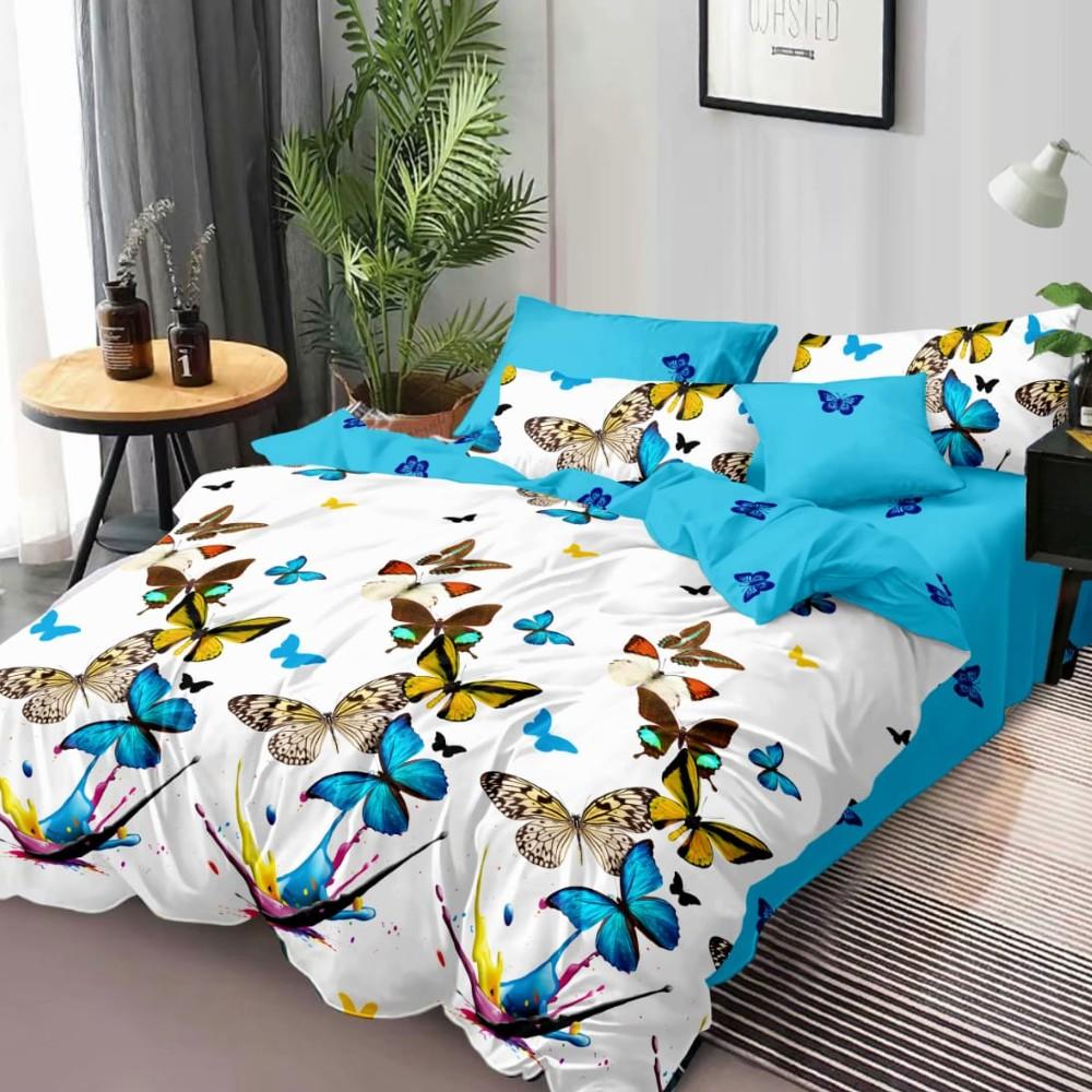 lenjerie de pat finet cu fluturi