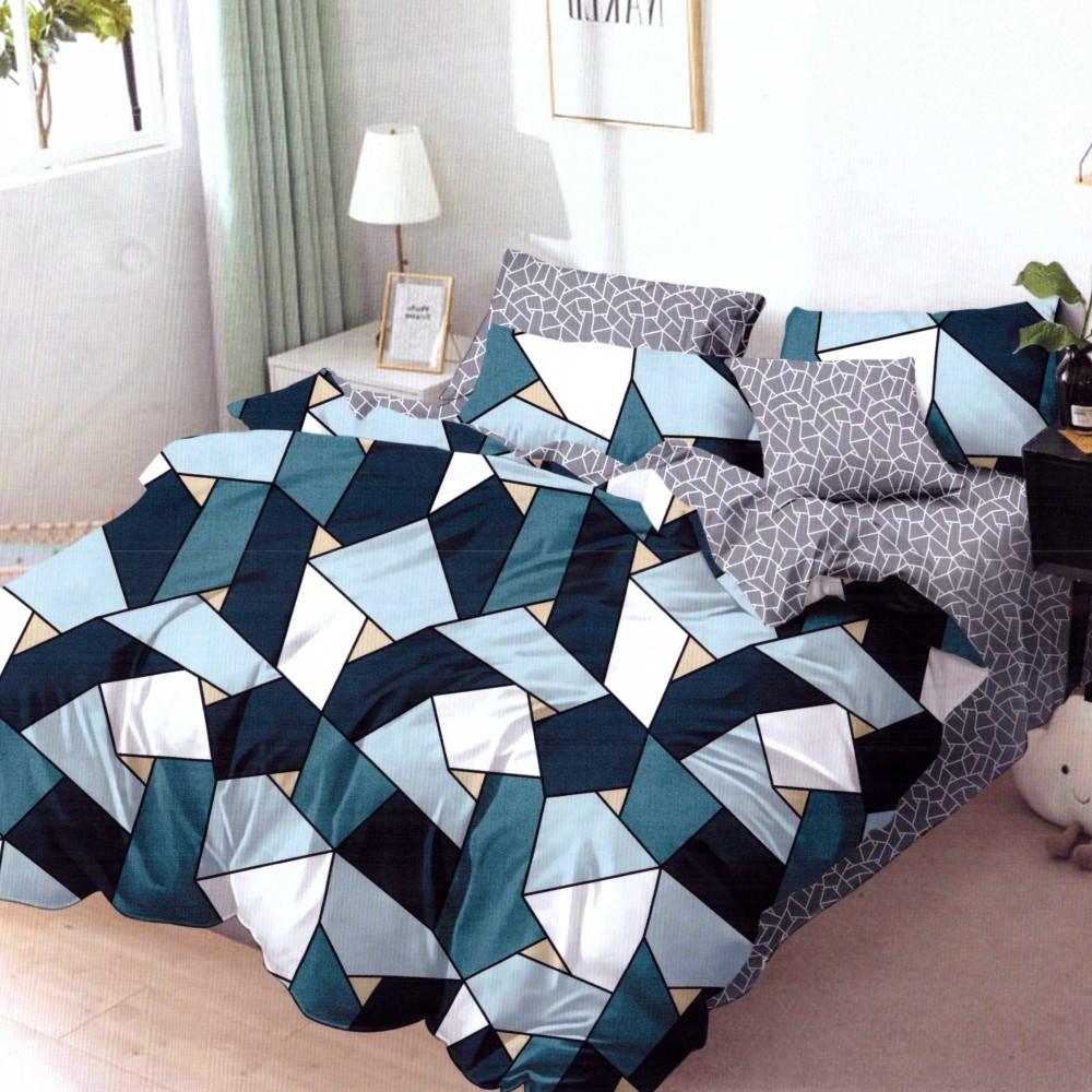 lenjerie de pat finet cu forme geometrice
