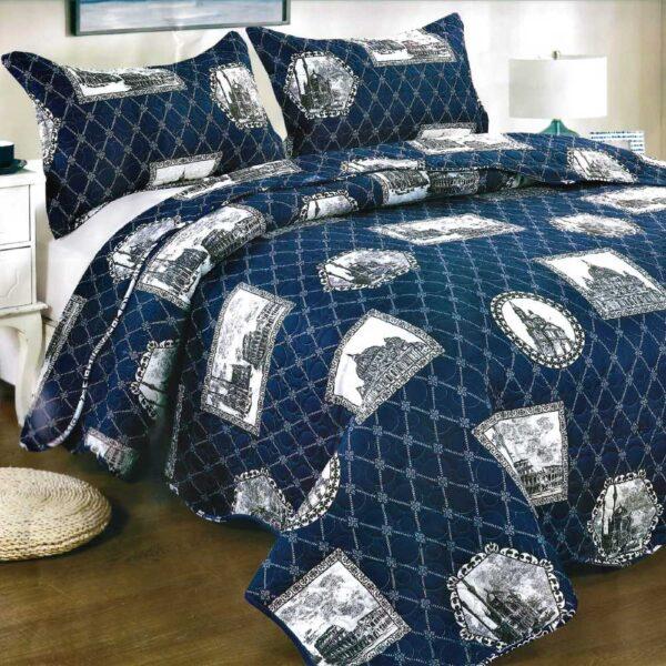 Cuvertura de pat bleumarin paris