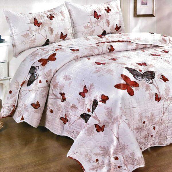 Cuvertura de pat cu fluturi
