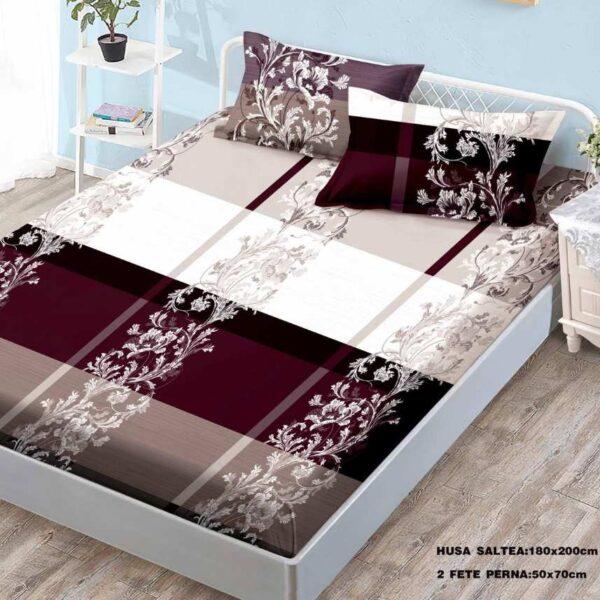 husa de pat cu elastic model clasic