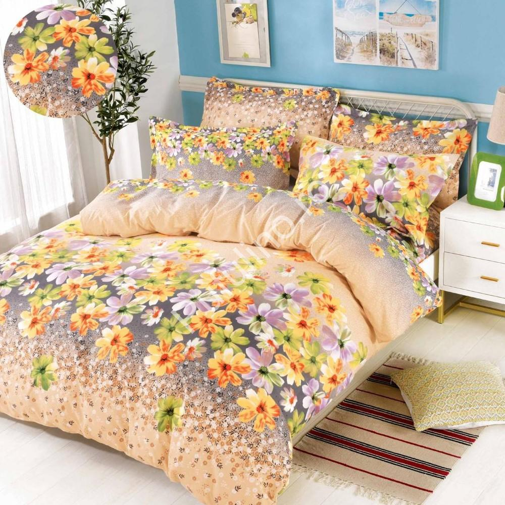 lenjerie cu elastic crem cu flori colorate