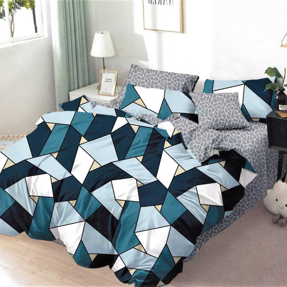 lenjerie de pat cu forme geometrice