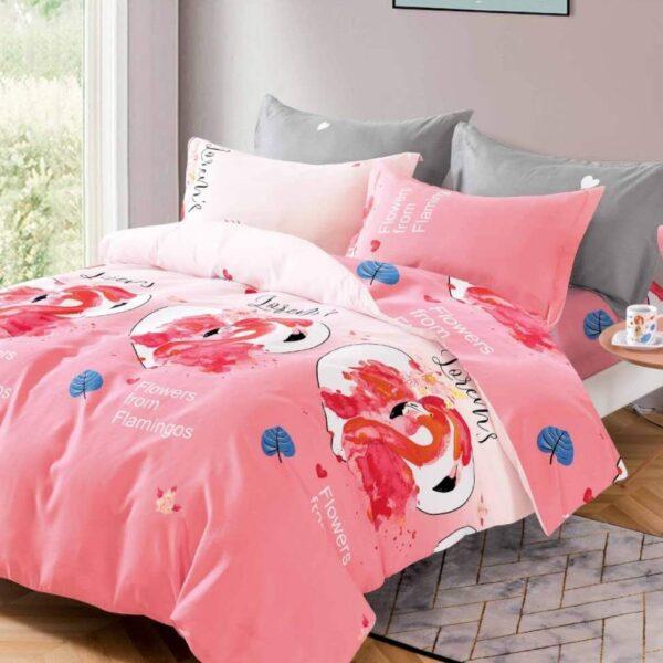 lenjerie roz flamingo