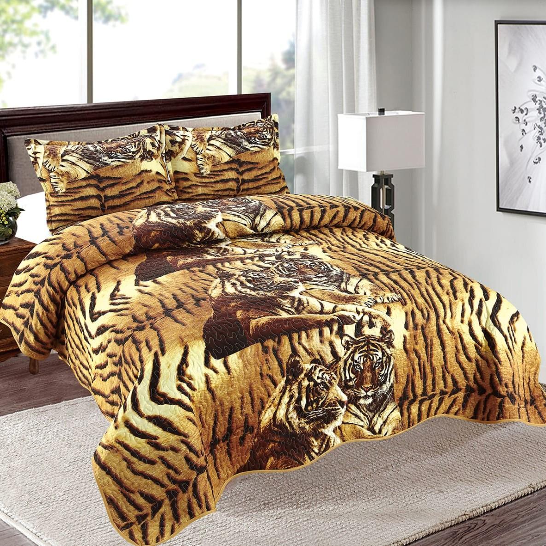 cuvertura maro cu tigri