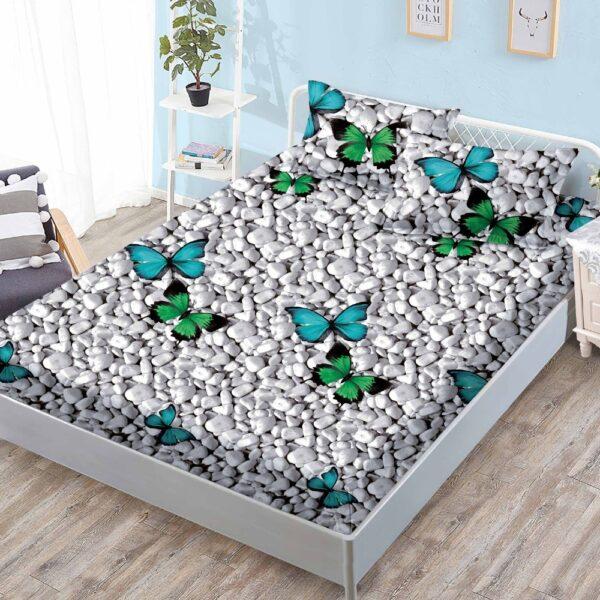 husa de pat cu elastic cu pietre