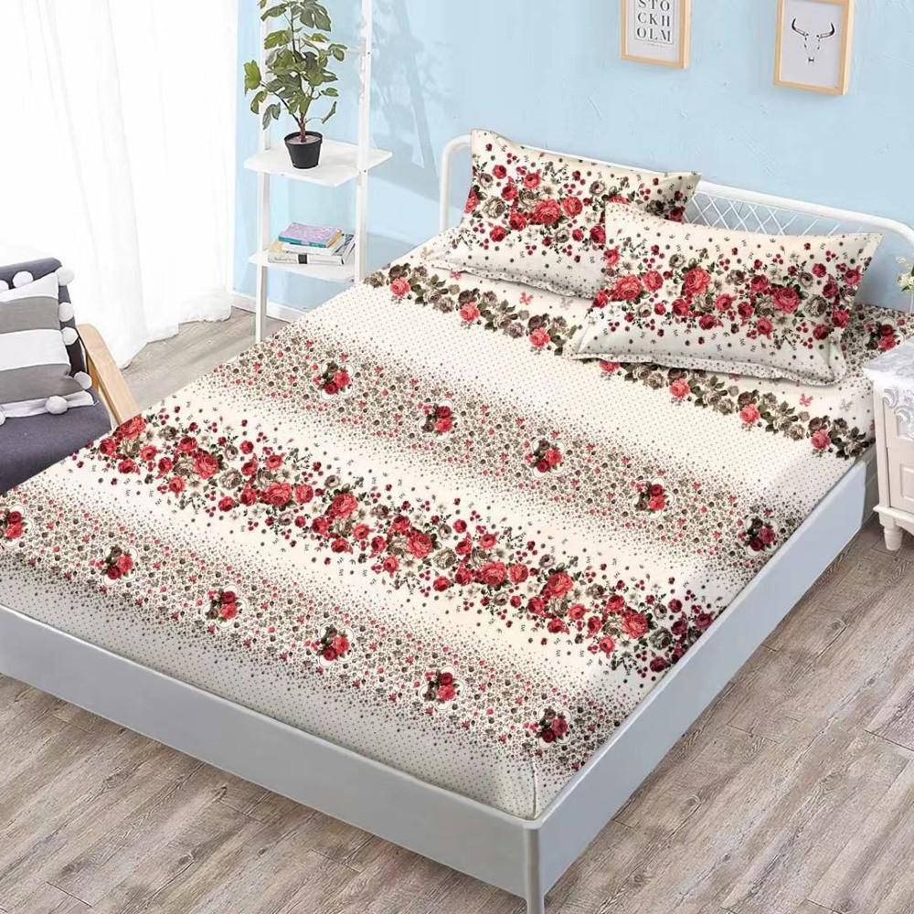 husa de pat cu elastic trandafiri