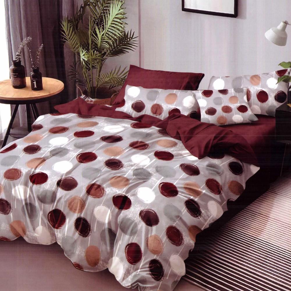 lenjerie de pat finet multicolora cu buline