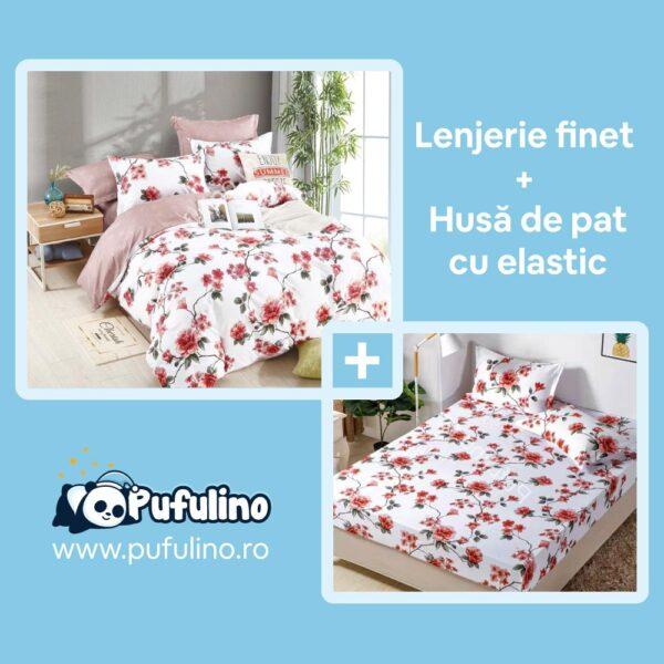 set-lenjerie-de-pat-cu-husa-alba-flori-rosii
