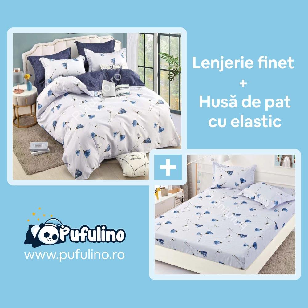 set-lenjerie-de-pat-si-husa-de-pat-alb-cu-albastru