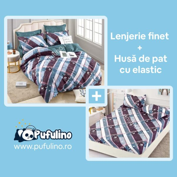 set-lenjerie-de-pat-cu-husa-de-pat-abstracta-albastra