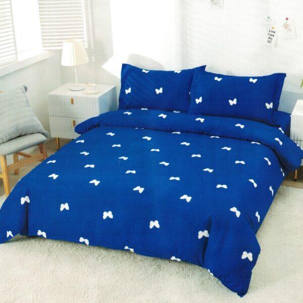 lenjerie albastra cu fundite cu elastic