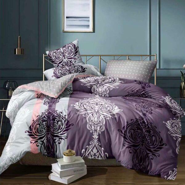 lenjerie de pat cu elastic cu flori
