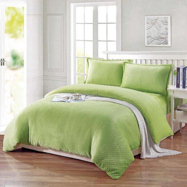 lenjerie pufoasa cocolino uni verde