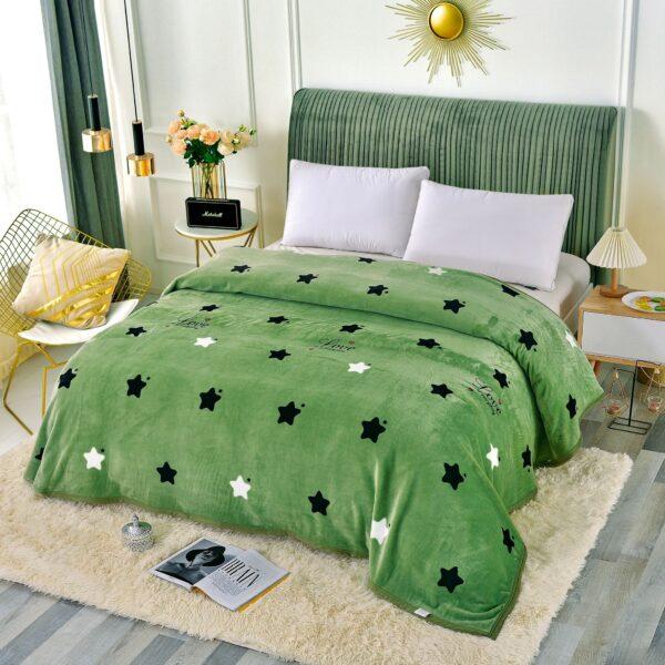 patura groasa verde cu stelute