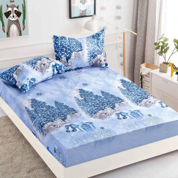 husa de pat cu elastic bleu cadouri craciun