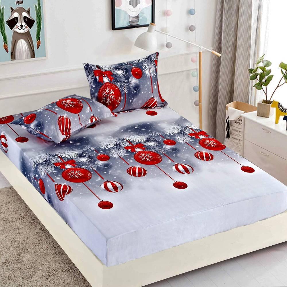 husa de pat cu elastic de craciun