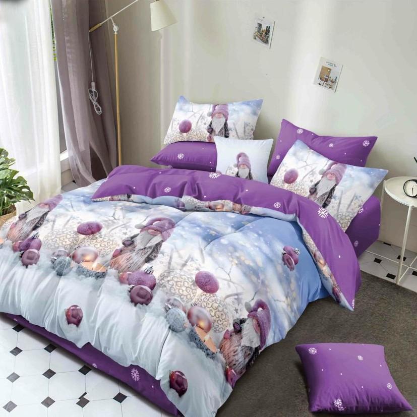 lenjerie de pat craciun violet