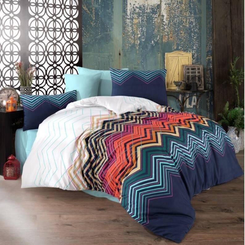 lenjerie de pat multicolor abstract