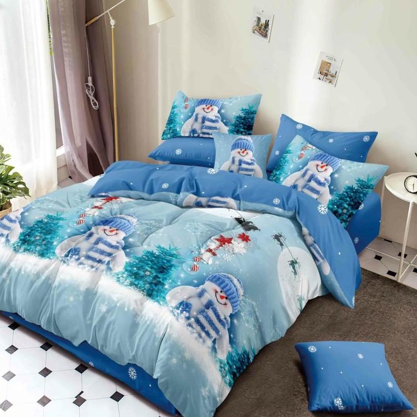 lenjerie de pat oameni de zapada albastra