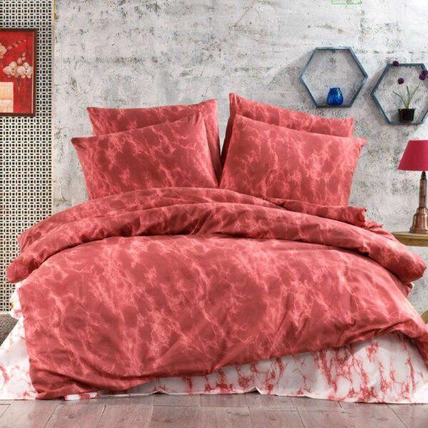 lenjerie de pat rosie abstract