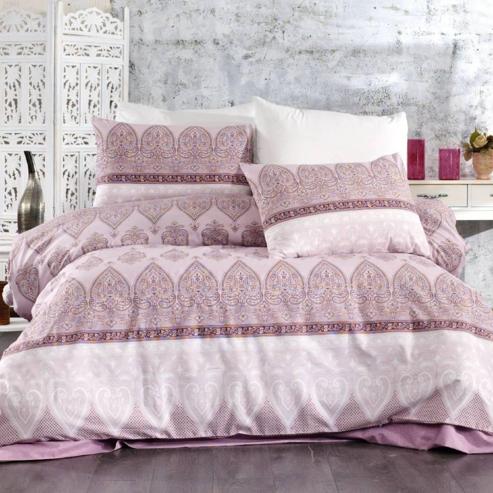 lenjerie de pat roz abstract